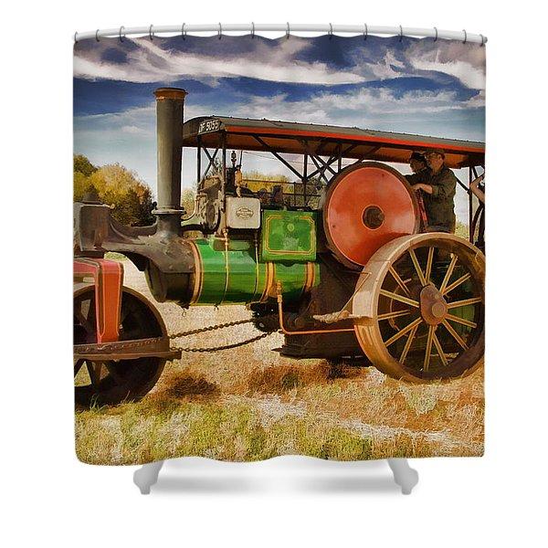Aveling Porter Road Roller Shower Curtain