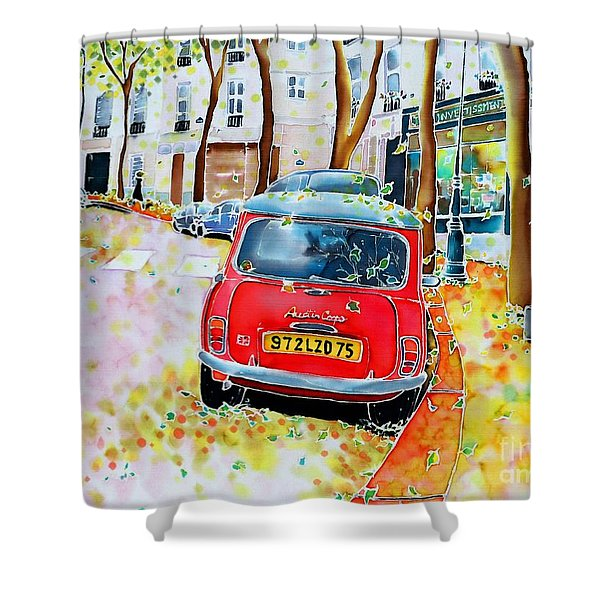 Avenue Junot In Autumn Shower Curtain