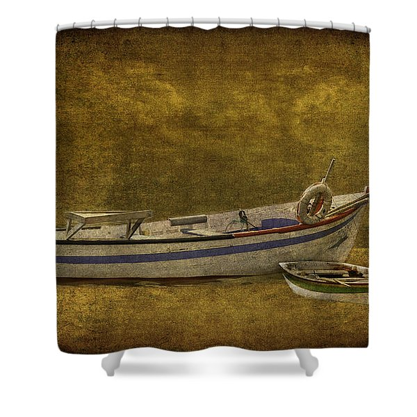 Azorean Fishing Boats Shower Curtain