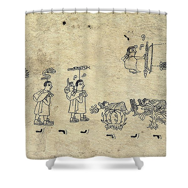 Aztec Priests Shower Curtain