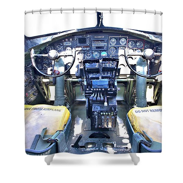 B-17 Front Office Shower Curtain
