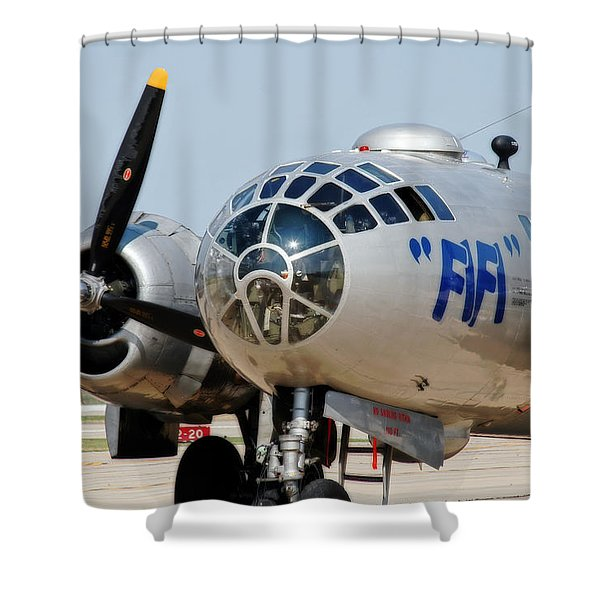 B-29 Bomber Fifi Shower Curtain