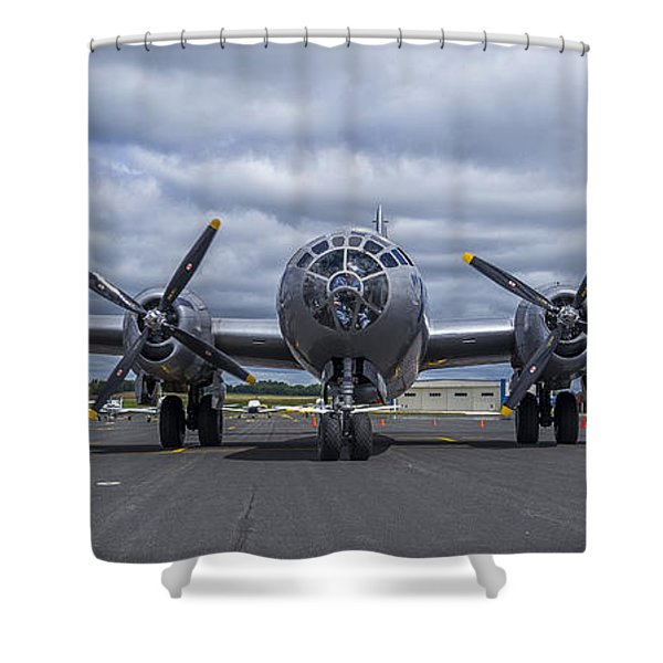 B29  Superfortress Shower Curtain