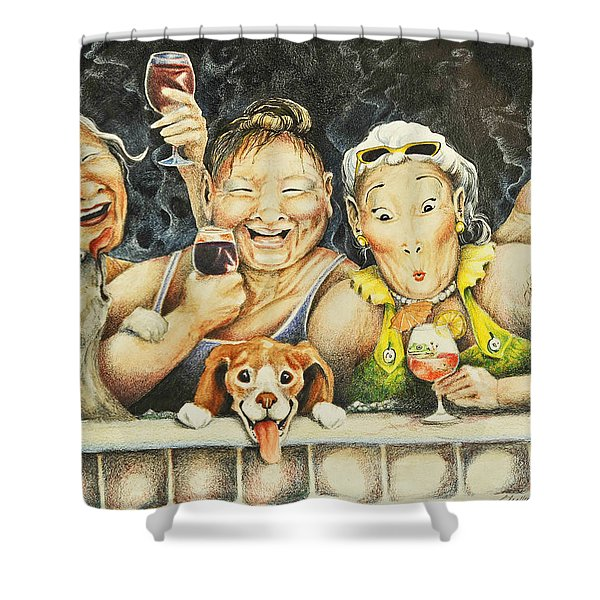 Babes N' Bitchies Shower Curtain