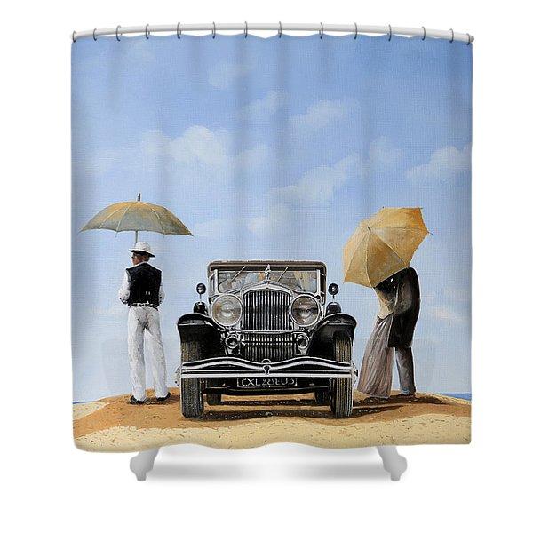 Baci Nel Deserto Shower Curtain