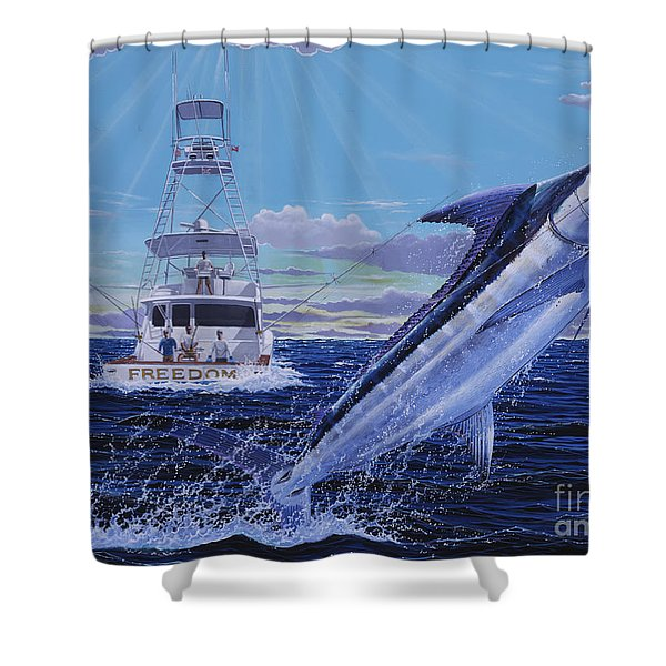 Back Her Down Off00126 Shower Curtain