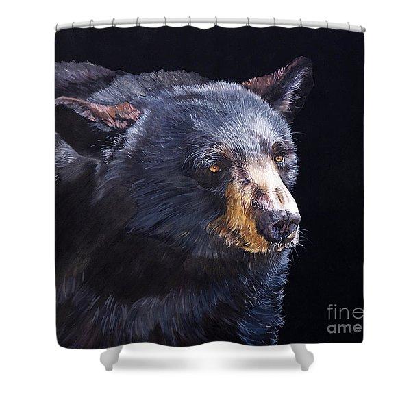 Back In Black Bear Shower Curtain