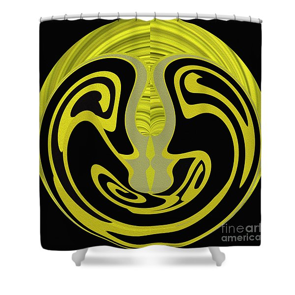 Shower Curtain featuring the digital art Back In Shape 3 by Mihaela Stancu