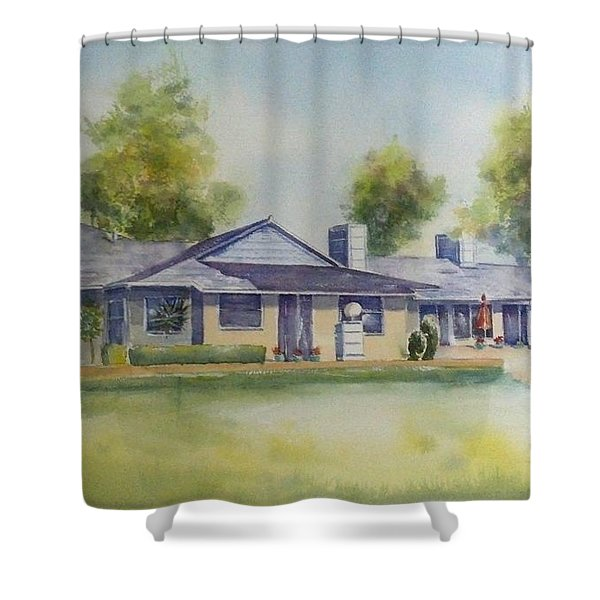 Back Of House Shower Curtain