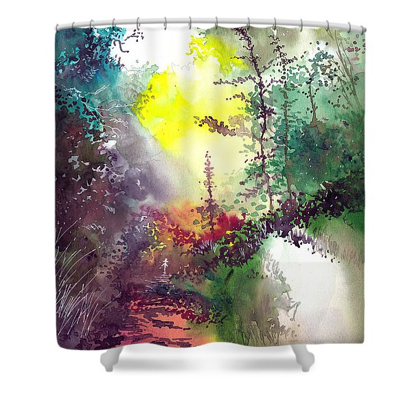 Back To Jungle Shower Curtain