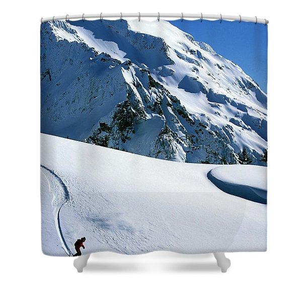 Backcountry Snowboarding Near Mt Shower Curtain