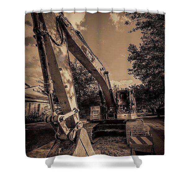 Backhoe-2 Shower Curtain