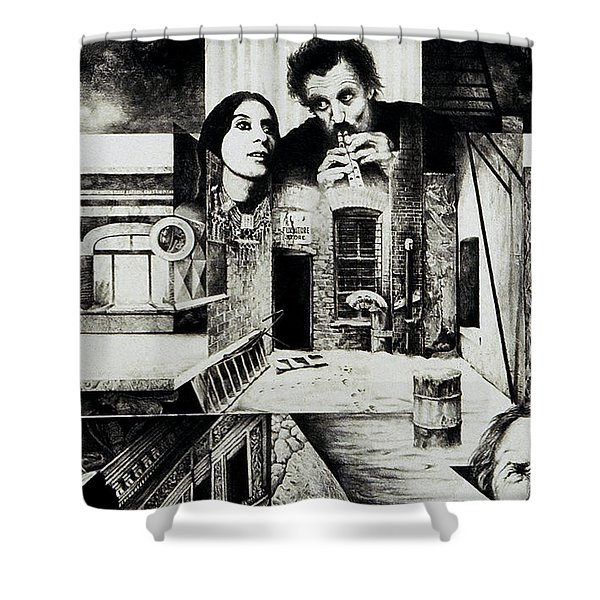Backlane Serenade Shower Curtain