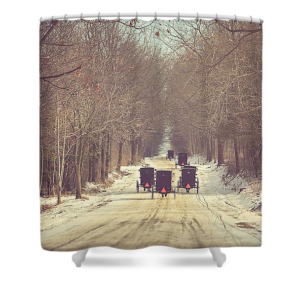 Backroad Buggies Shower Curtain