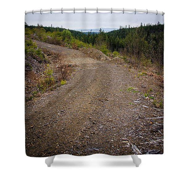4x4 Logging Road To Adventure Shower Curtain