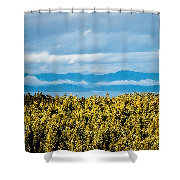 Backroad Ocean View Shower Curtain