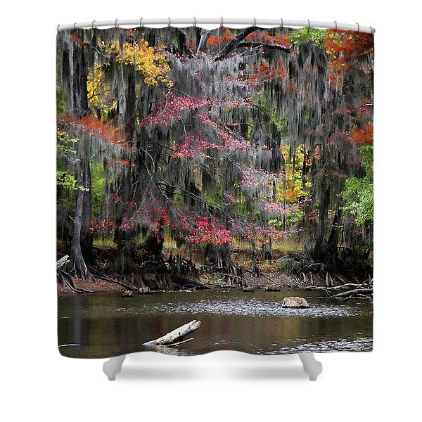 Backwater Autumn Shower Curtain