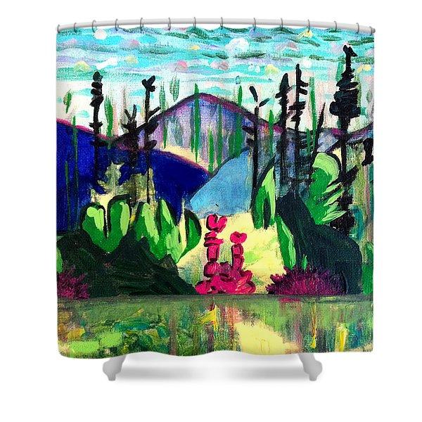 Backwoods 2 Shower Curtain