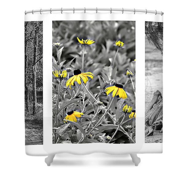 Backwoods Escape Triptych Shower Curtain