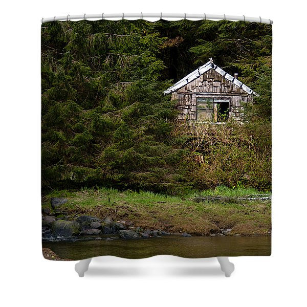 Backwoods Shack Shower Curtain