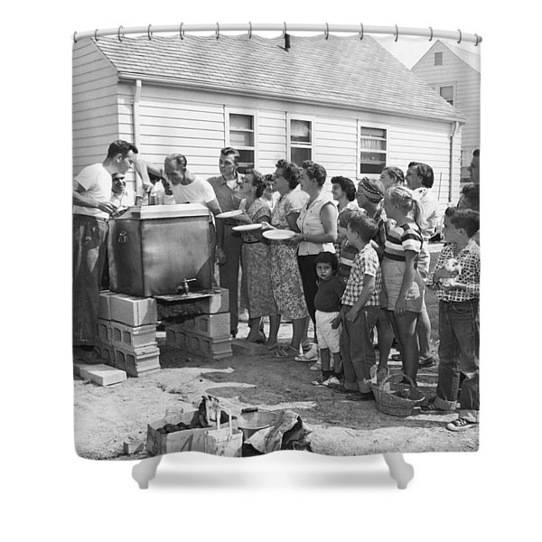 Backyard Clambake Shower Curtain