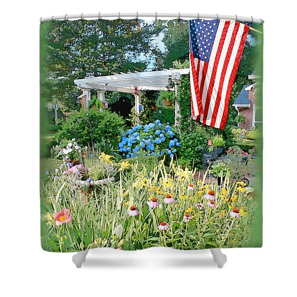 Backyard Paradise Shower Curtain