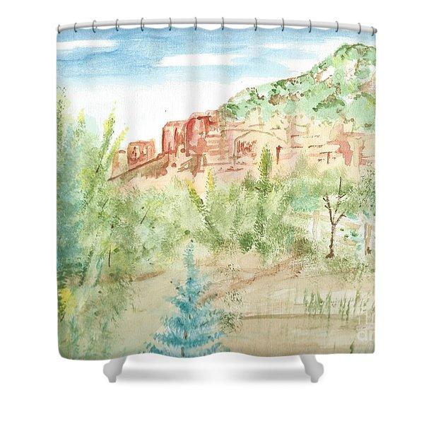 Backyard Sedona Shower Curtain