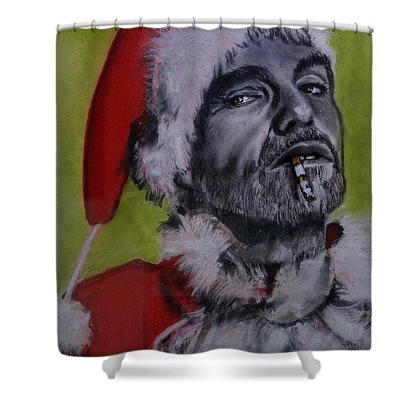 Bad Santa Shower Curtain
