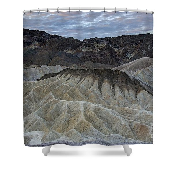 Badlands At Sunrise. Death Valley Shower Curtain