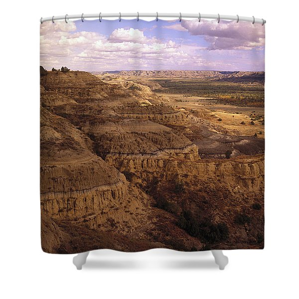 Badlands In Theodore Roosevelt National Shower Curtain