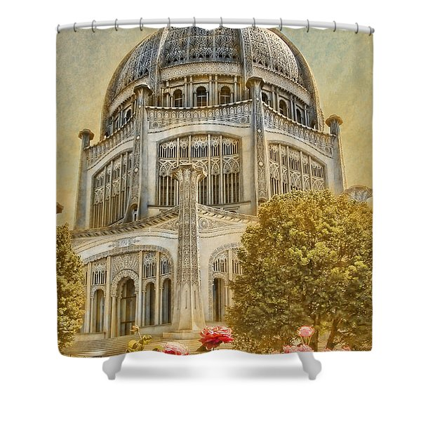 Baha'i  Temple In Wilmette Shower Curtain