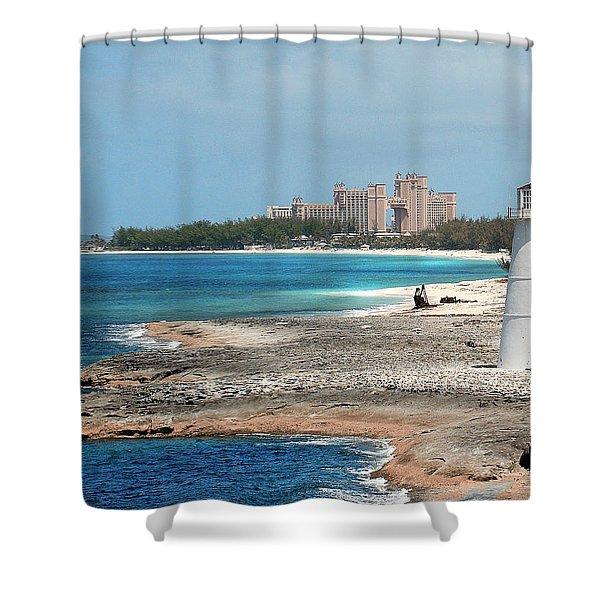 Bahamas Lighthouse Shower Curtain