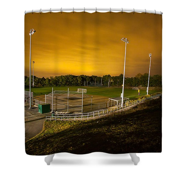 Ball Field At Night Shower Curtain