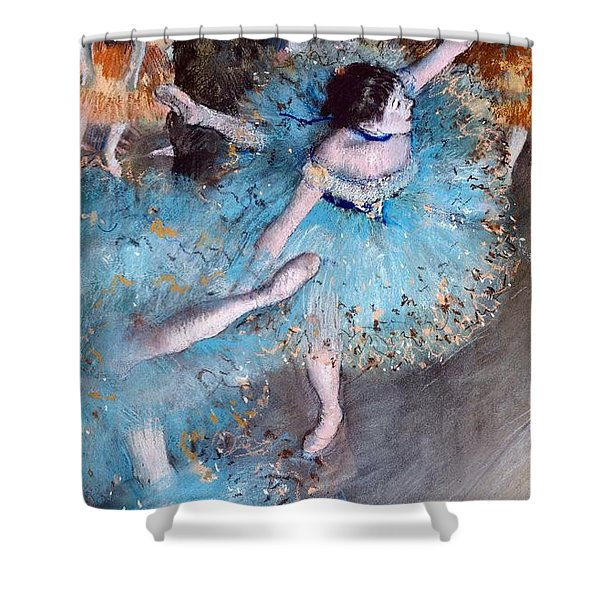 Ballerina On Pointe  Shower Curtain