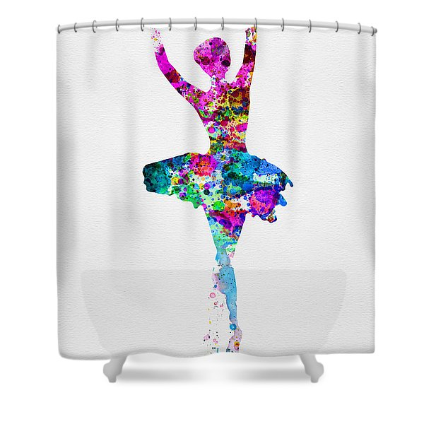 Ballerina Watercolor 1 Shower Curtain