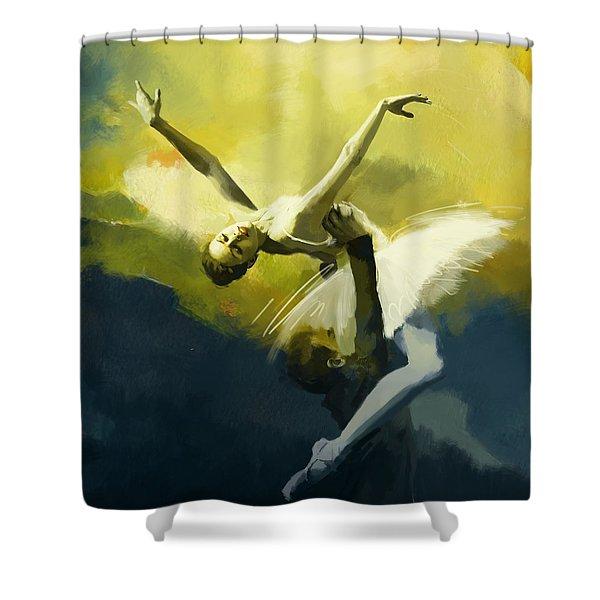 Ballet Dancer Shower Curtain