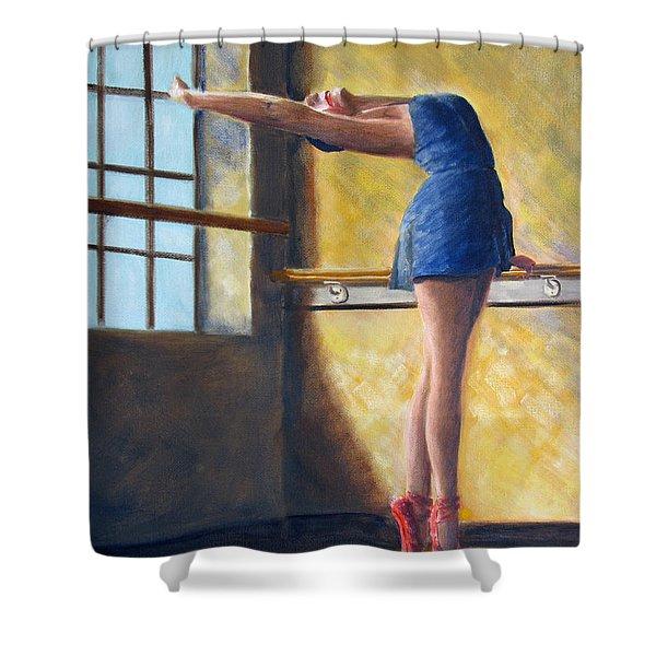 Ballet Dancer Warm Up Shower Curtain