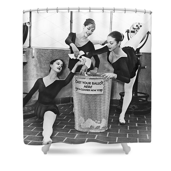 Ballet On Top Of Empire State Shower Curtain