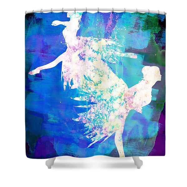 Ballet Watercolor 2 Shower Curtain