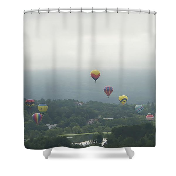 Balloon Rise Over Quechee Vermont Shower Curtain