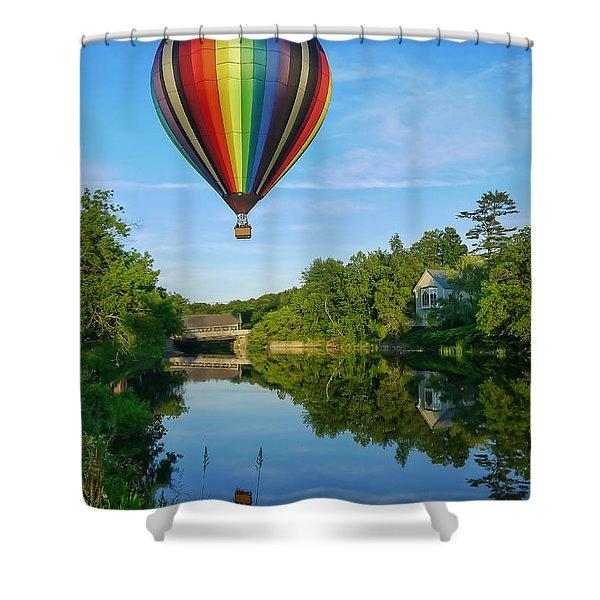 Balloons Over Quechee Vermont Shower Curtain