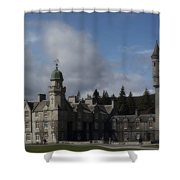 Balmoral Castle In A Closeup Panorama Shower Curtain