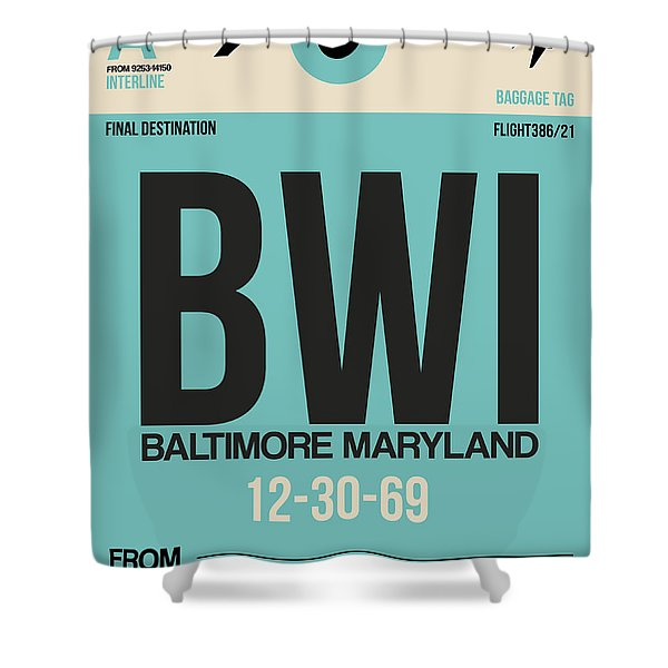 Baltimore Airport Poster 1 Shower Curtain