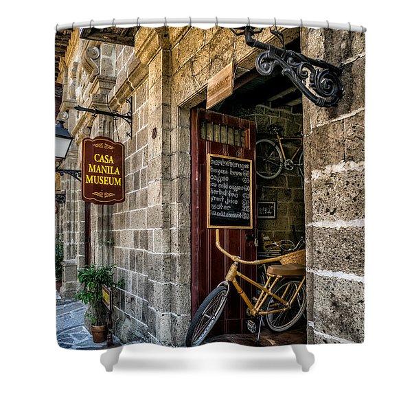 Bamboo Bike Shower Curtain