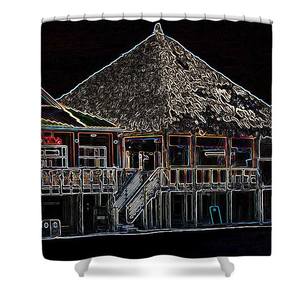 Bamboo Willies In Neon Shower Curtain