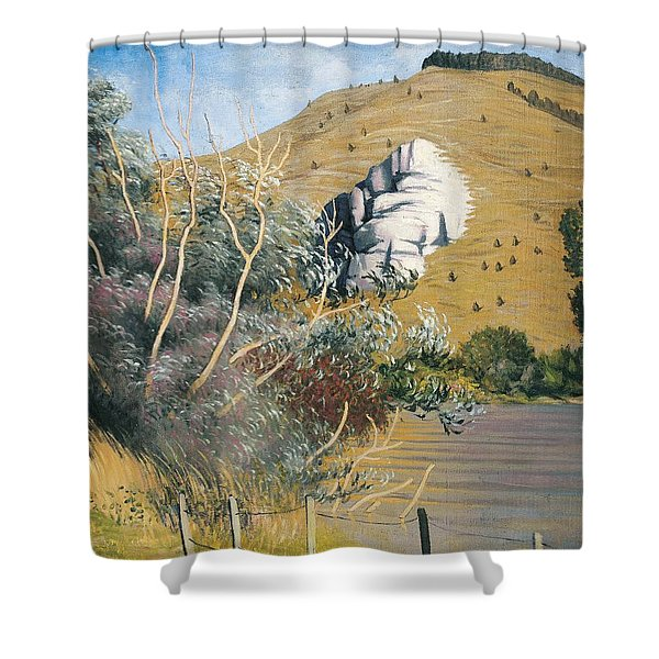 Banks Of The Seine At Tournedos Shower Curtain