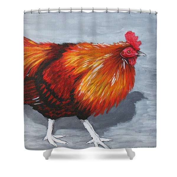 Bantam Rooster 2 Shower Curtain