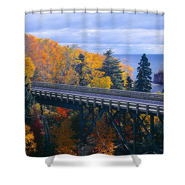 Baptism River Into Lake Superior Shower Curtain