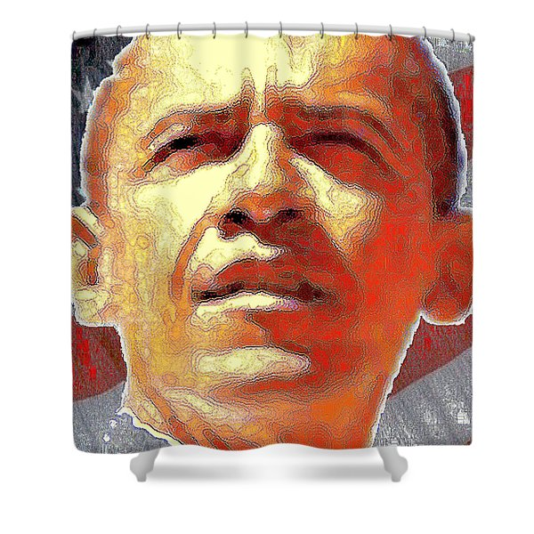 Barack Obama Portrait - American President 2008-2016 Shower Curtain