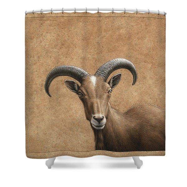 Barbary Ram Shower Curtain